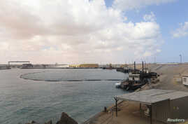 A view of part of the Es Sider oil export terminal in Ras Lanuf, west of Benghazi, March 11, 2014.