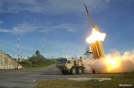 A Terminal High Altitude Area Defense (THAAD)