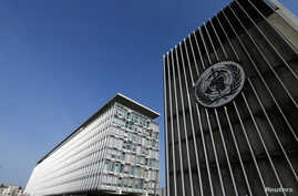 The headquarters of the World Health Organization (WHO) is pictured in Geneva, Switzerland, March 22, 2016.