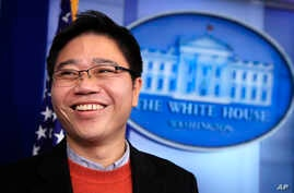 North Korean defector Ji Seong-ho speaks to reporters in the press briefing room at the White House in Washington, Jan. 31, 2018. Ji was a guest of President Donald Trump when he delivered the State of the Union address.