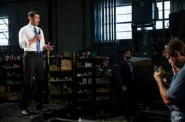 House Speaker Paul Ryan, R-Wis., speaks at the Pennsylvania Machine Works, a family-owned pipe-fitting manufacturer, in Aston, Pa., Sept. 28, 2017. Ryan pitched Republicans' new tax plan in Congress, telling the workers that lowering corporate taxes
