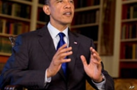 President Obama records his weekly address, 09 Jul 2010