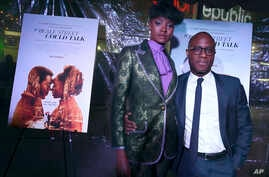 "FILE - KiKi Layne, left, and director Barry Jenkins arrive at a special screening of ""If Beale Street Could Talk"" at ArcLight Hollywood in Los Angeles, Dec. 4, 2018."
