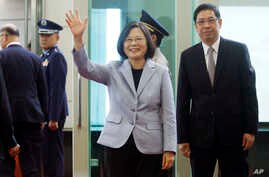 Tsai departs for Latin America 20180812 AP