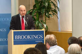 Lukman Faily, Iraq's Ambassador to Washington, speaking at the Brookings Institute. (Sep. 18, 2013)
