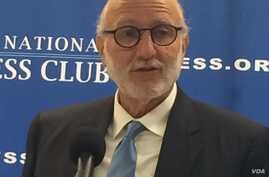 Former Cuban prisoner Alan Gross, speaking at the National Press Club in Washington, says that while normalization of relations between the U.S. and Cuba isn't going to occur for many years, it's time to break from the past and work on a change in pe