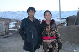 This citizen journalist photograph shows Lhamo Tseten, who self immolated on October 26, 2012 in Sangchu county, and his wife Tsering Lhamo.