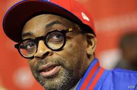 "Spike Lee at the premiere of the film """"Red Hook Summer"" at the 2012 Sundance Film Festival in Park City, Utah. (Jan 2012 file photo)"