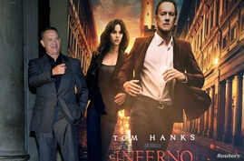 "FILE - Actor Tom Hanks poses at a screening of his film ""Inferno"" in Florence, Italy, Oct. 6, 2016."