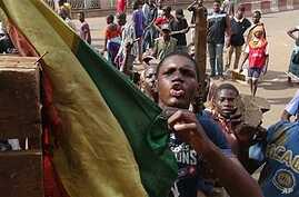 Youths protest government's handling of attacks by Tuareg rebels in the north, Bamako, Mali, Feb. 2, 2012.