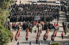 A funeral procession transporting the coffin of Ethiopian Prime Minister Meles Zenawi is pictured in Addis Ababa, September 2, 2012.