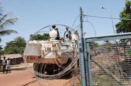 UN troops in Democratic Republic of the Congo, one day after Nzobo Yalobo, a new rebel group in Equateur, attacked the provincial capital of Mbandaka.