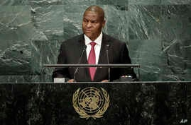 Central African Republic President Faustin Archange Touadera addresses the 71st session of the United Nations General Assembly,  Sept. 23, 2016.