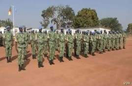 Cameroontroops at the U.N. MINUSCA base in Bossangoa, Central African Republic, Dec. 27, 2018. Cameroon has announced new troop deployments to keep fighting in C.A.R. from spilling across the border.