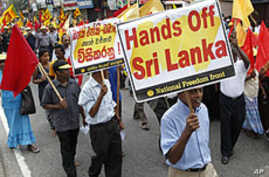 Tens of Thousands of Sri Lankans Protest UN Report on Wartime Abuses
