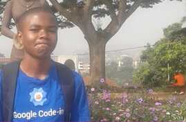 Nji Collins Gbah is the first African to win Google's global youth coding challenge.(Photo: Nji Collins Gbah)