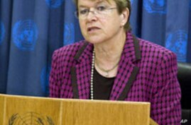 Ellen Margaret Loj, UN Special Representative for Liberia (file photo)