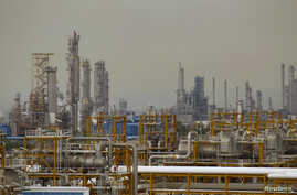 The Phase 4 and Phase 5 oil and gas refineries are seen in Assalouyeh, Iran, January 2011.