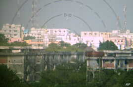 The infamous Bakara Market seen from a Burundian position in Mogadishu. Al-Shabab launches most of its mortars from the heavily populated Bakara. AMISOM forces have moved closer to the neighborhood since September and hope to capture it with the arri