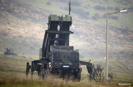FILE - Patriot missile installation is pictured at a positions near the city of Kahramanmaras, Turkey, Feb. 23, 2013.