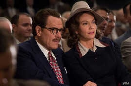 """A scene from the movie, """"Trumbo,"""" with Bryan Cranston as Dalton Trumbo and Diane Lane as Cleo Trumbo."""