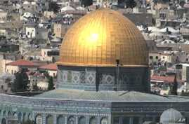 The Dome of the Rock sits on the spot where the ancient Hebrews built the Second Temple before it was destroyed by the Romans nearly 2,000 years ago