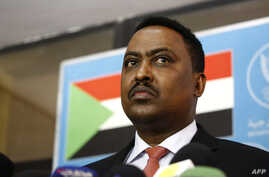 FILE - Ethiopia's Foreign Minister Workneh Gebeyehu speaks during a press conference at the Sudanese Foreign Ministry in Khartoum, Jan. 14, 2018.