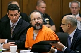Ariel Castro listens during sentencing phase of his rape, abduction trial, Cleveland, Aug. 1, 2013.