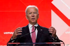 Former Vice President Joe Biden speaks during the U.S. Conference of Mayors Annual Winter Meeting in Washington, Jan. 24, 2019.