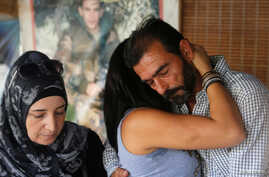 Relatives of Lebanese soldiers, who were captured by Islamist militants, are seen in their sit-in tent in Beirut, Lebanon, Aug.  27, 2017.