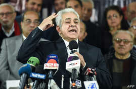 Egypt's former presidential candidate Hamdeen Sabahi speaks during a press conference in Cairo on Jan. 30, 2018.