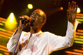 Youssou N'dour of Senegal performed at the 44th Montreux Jazz Festival in Montreux, France, on July 9, 2010.