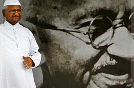 Hazare Emerges as a National Icon in India