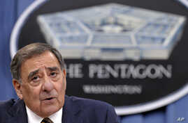 Defense Secretary Leon Panetta answers a question during a briefing at the Pentagon, May 10, 2012.