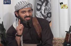 This image taken from an undated video posted on a militant-leaning Web site Jan. 23, 2009, and provided by the SITE Intelligence Group shows Said Ali al-Shehri.