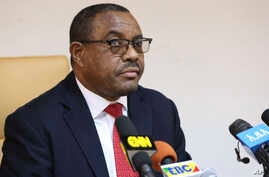 Ethiopian Prime Minister Hailemariam Desalegn, during press conference in Addis Ababa, Ethiopia, Feb. 15, 2018