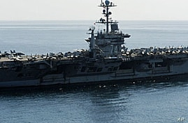 On January 3, 2012 the Pentagon answered an Iranian warning to keep U.S. aircraft carriers out of the Persian Gulf by declaring that American warships will continue regularly scheduled deployments to the strategic waterway, (File).