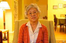 In this still frame from an undated video released Thursday, Oct. 10, 2013 by the family of Kenneth Bae, Bae's mother, Myunghee Bae, talks about her upcoming trip to North Korea to visit her son, Kenneth Bae, a 45-year-old tour operator and Christian