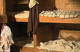 Slave quarters at Mount Vernon, home of George Washington, America's first president.
