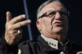 This Jan. 9, 2013 file photo shows Maricopa County Sheriff Joe Arpaio speaking with the media in Phoenix.