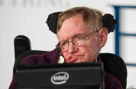 """FILE - Stephen Hawking is pictured at the premiere of """"The Theory of Everything,"""" a movie based on his life, in London, Dec. 9, 2014."""