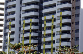 A view of one of the blocks of apartments where Australian athletes competing in the Rio 2016 Olympic Games are supposed to stay in the Olympic Village in Rio de Janeiro, Brazil, July 24, 2016.