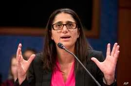 FILE - Hurley Medical Center Pediatric Residency Program Director Dr. Mona Hanna-Attisha speaks during a House Democratic Steering and Policy Committee hearing on the Flint water crisis on Capitol Hill in Washington, Feb. 10, 2016.