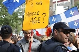Protesters Greet British Royal Couple in Quebec