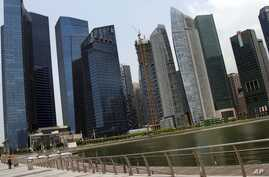 Singapore's financial district is seen in this AP file photo.