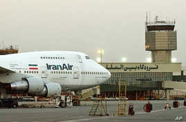 FILE - A Boeing 747 of Iran's national airline at Mehrabad International airport in Tehran.