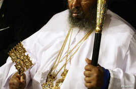 Ethiopian Orthodox Church patriarch Abune Paulos attends the opening ceremony of the first Forum of the Alliance of Civilizations in Madrid, January 15, 2008.
