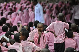 Somali refugee children are seen at a school at the sprawling Dadaab refugee complex in northeastern Kenya in this April 12, 2013, file photo.