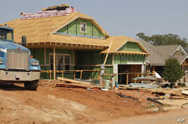 A new home is under construction in Edmond, Oklahoma, September 21, 2012.