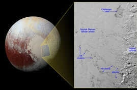 Hills of water ice on Pluto 'float' in a sea of frozen nit